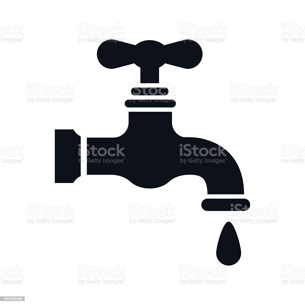 Water Faucet Icon - VECTOR vector art illustration