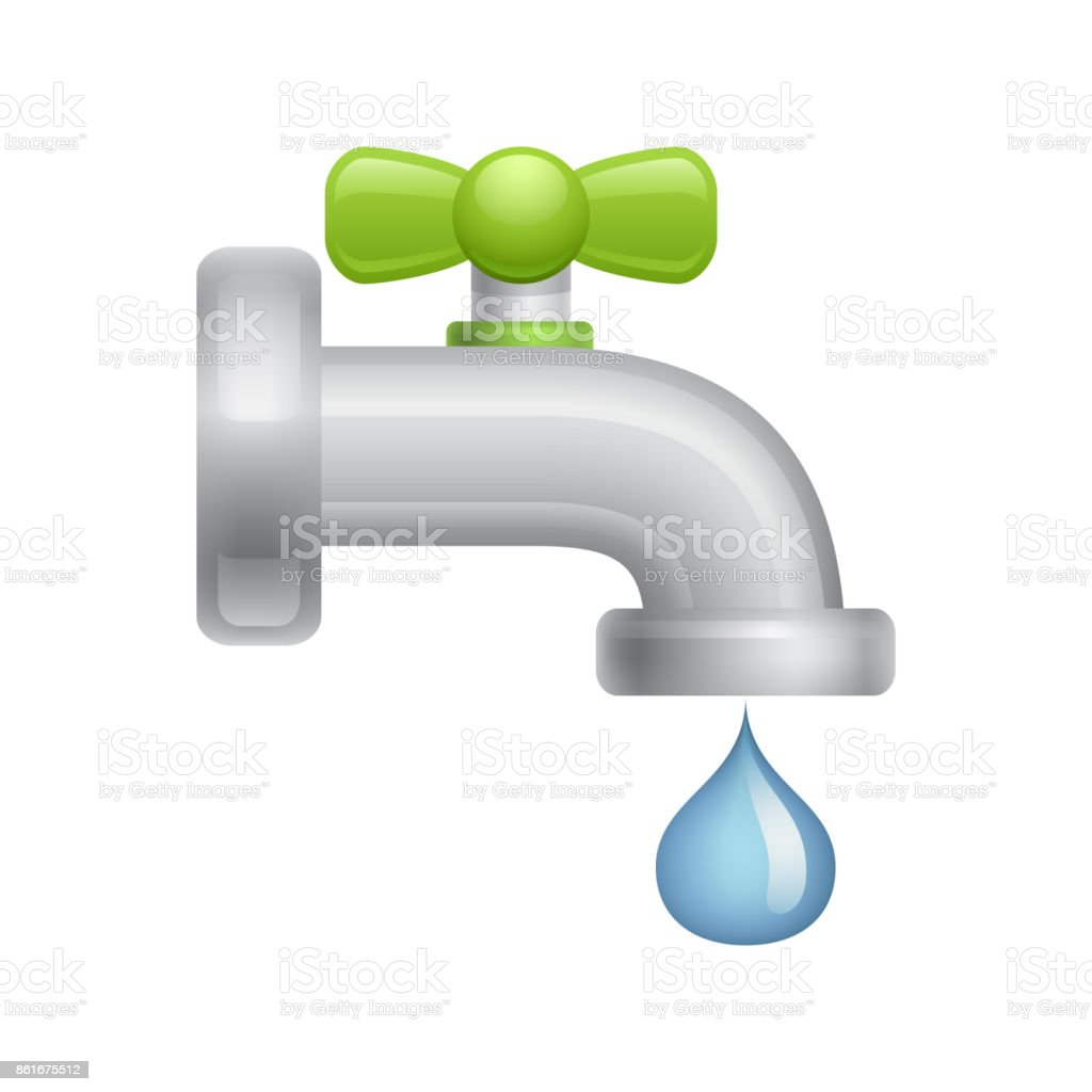 Water Faucet - Novo Icons. vector art illustration