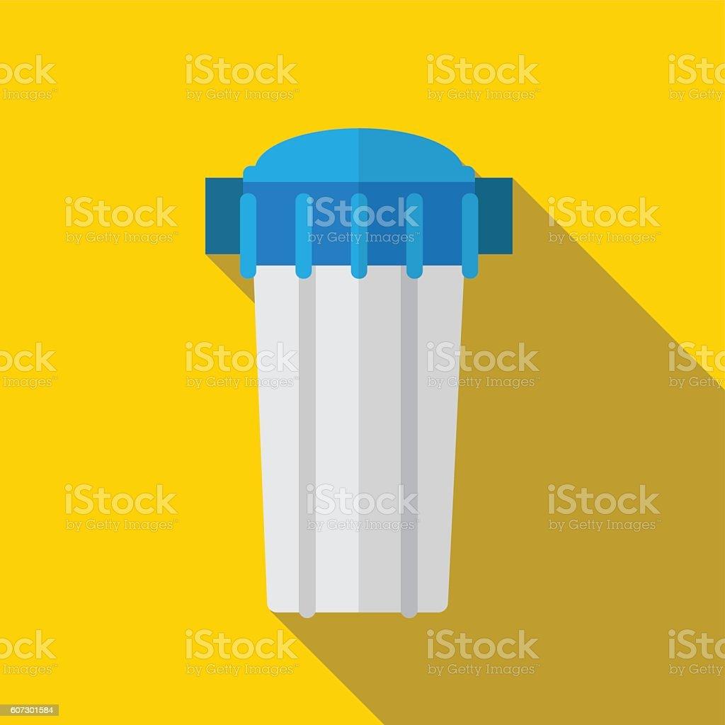 Water filter flat icon iluustration vector art illustration