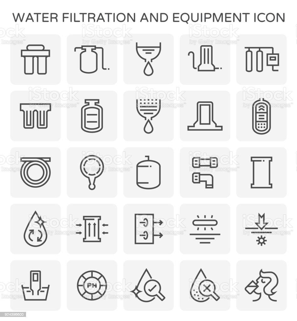 water filtration icon vector art illustration