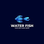 Water Fish Illustration Vector Template. Suitable for Creative Industry, Multimedia, entertainment, Educations, Shop, and any related business.