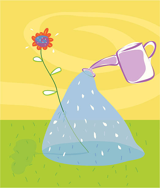 Water flower vektorkonstillustration