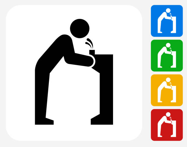 stockillustraties, clipart, cartoons en iconen met water fountain icon flat graphic design - fontein