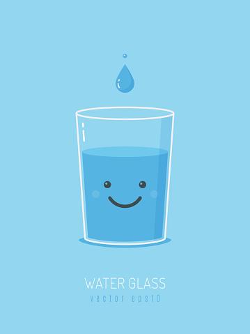 Water Glass Mascot