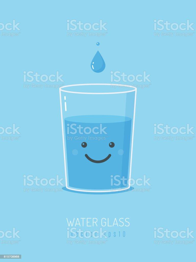 Mascota de vaso de agua - ilustración de arte vectorial