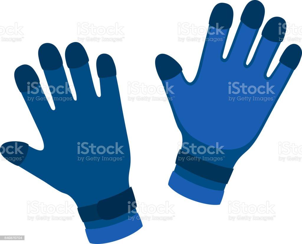 Water gloves cartoon vector illustration vector art illustration
