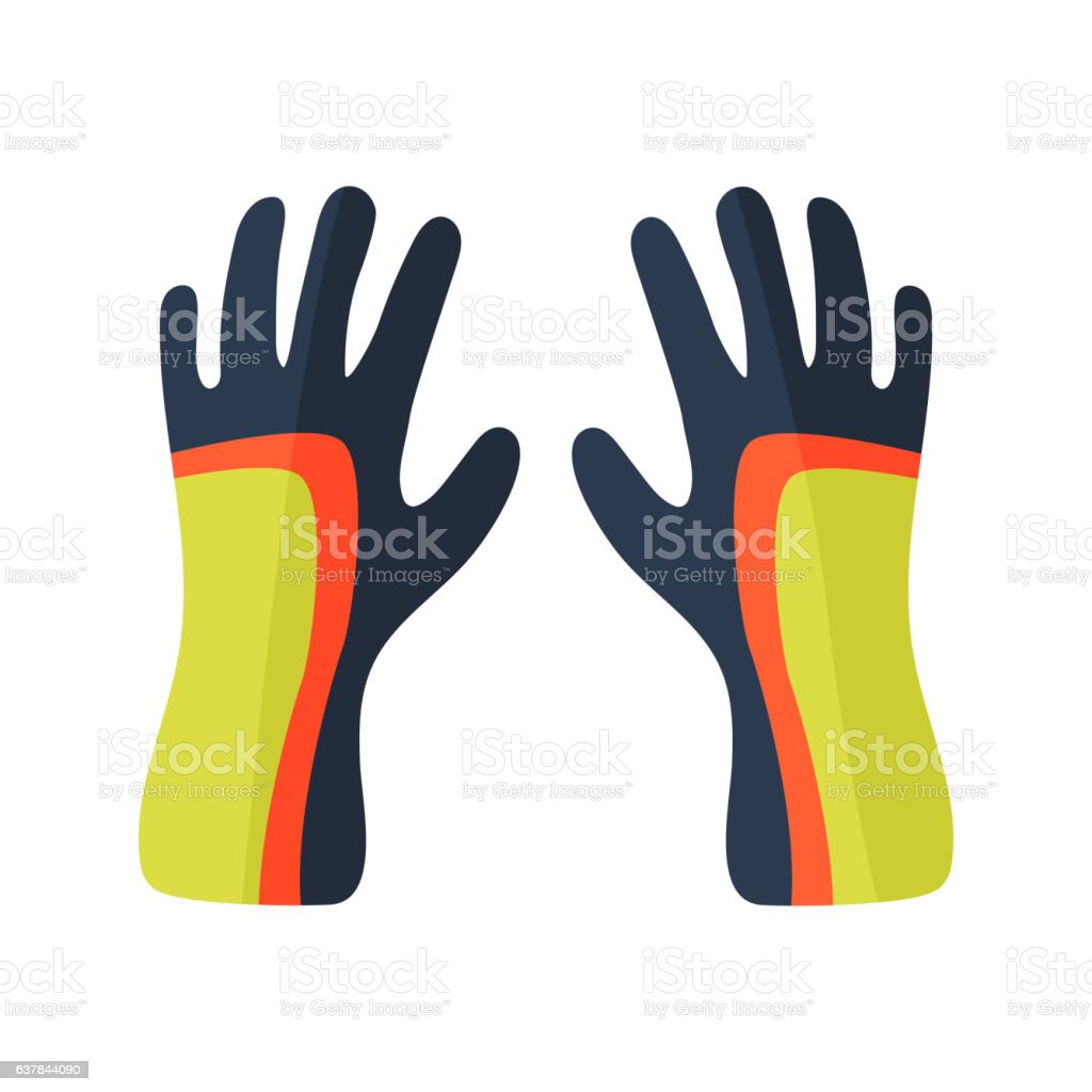 Water gloves cartoon vector illustration vector art illustration