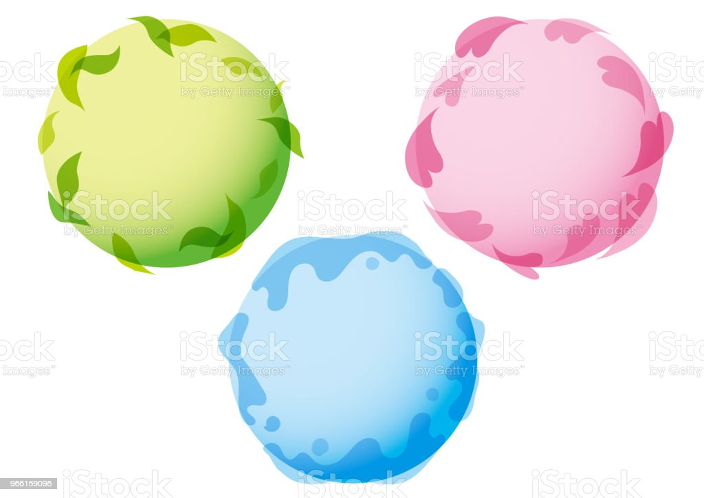 Water, heart, green graph - Royalty-free Business stock vector