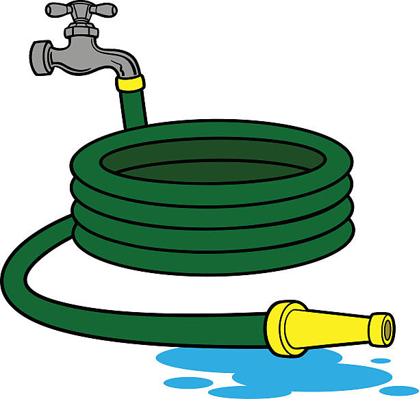 water hose illustrations royalty  vector graphics