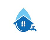 Water House Symbol Template Design Vector, Emblem, Design Concept, Creative Symbol, Icon
