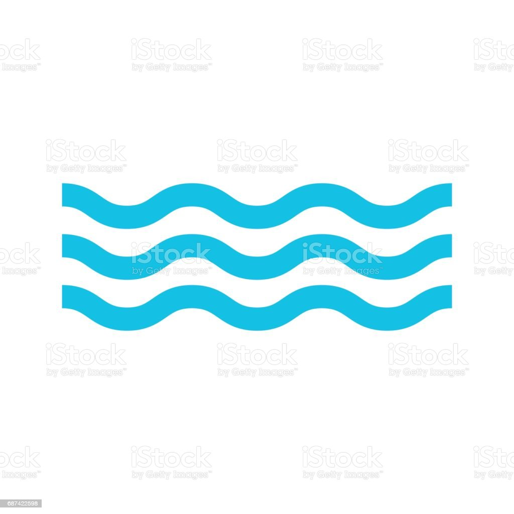 water icon isolated vector vector art illustration