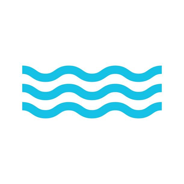 water icon isolated vector water icon isolated vector lake stock illustrations
