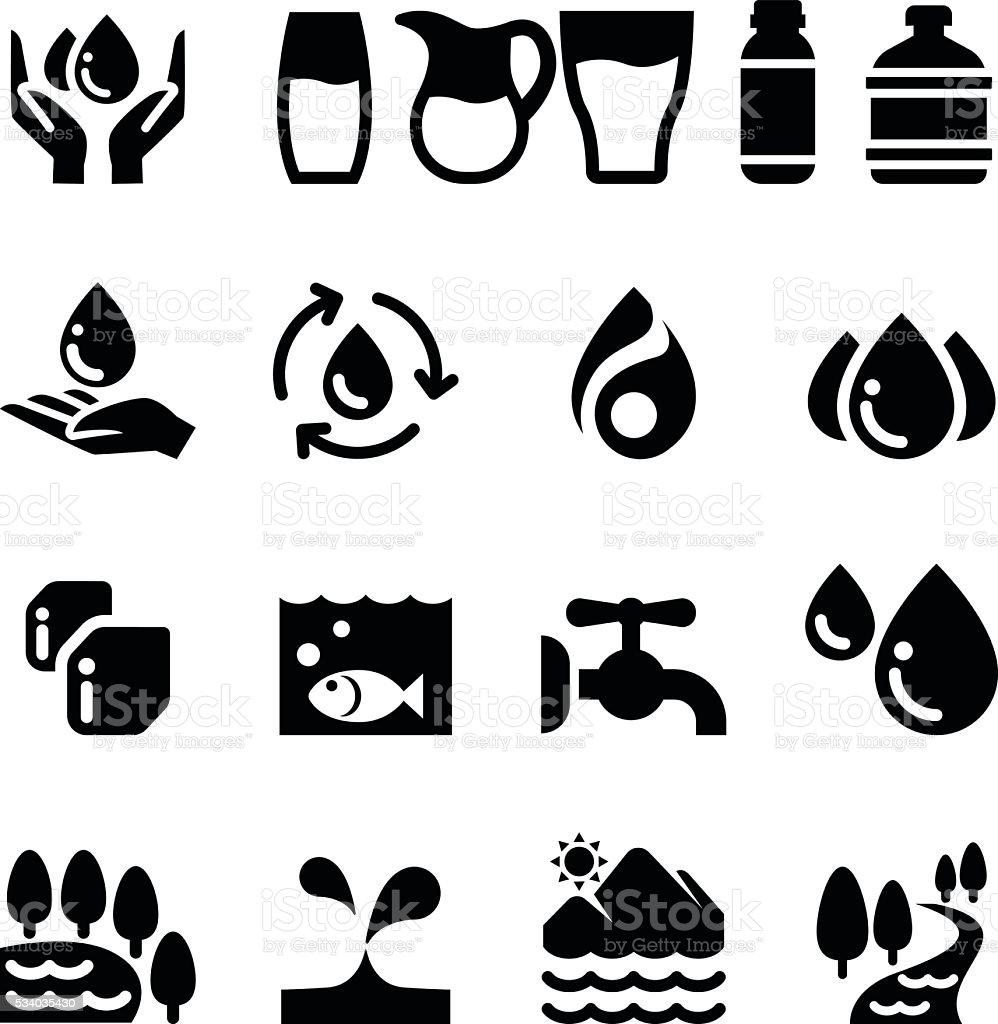 Water icon vector art illustration