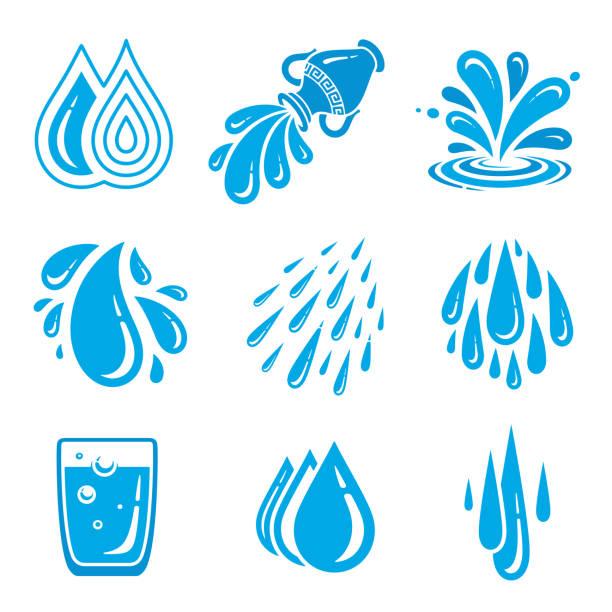 Wassersymbole – Vektorgrafik