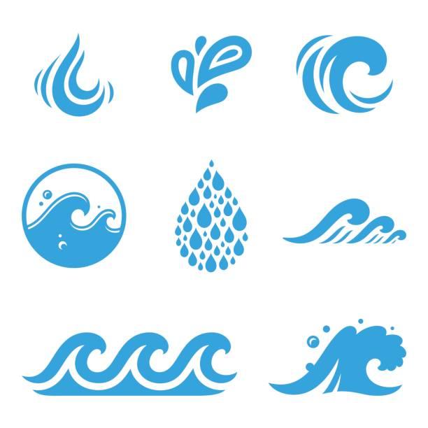 Wasser icons – Vektorgrafik