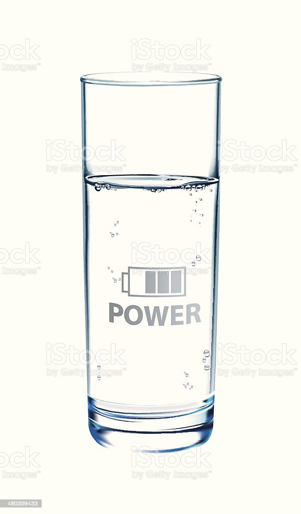 water is power royalty-free stock vector art