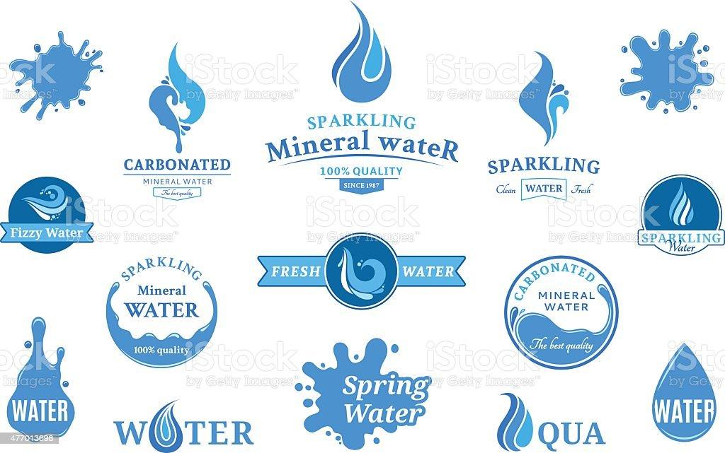 Marca d'água, ícones e elementos de Design - ilustração de arte em vetor