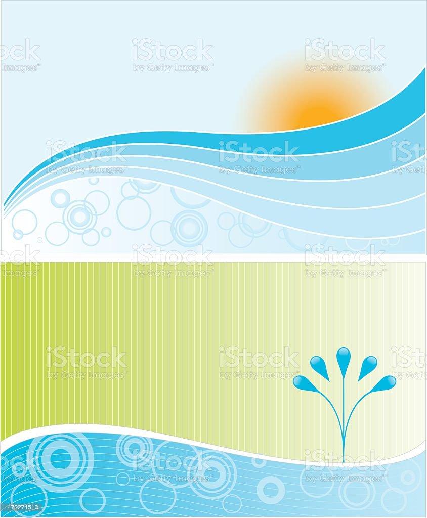 Paisagens de água - ilustração de arte em vetor