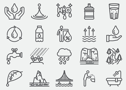Water Line Icons
