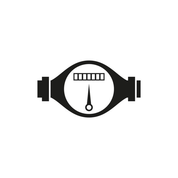 water meter icon, vector illustration - tap water stock illustrations