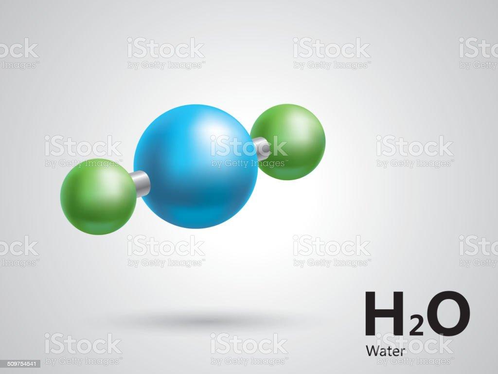 Ilustración De Modelo De Estructura Molecular Del Agua Y Más