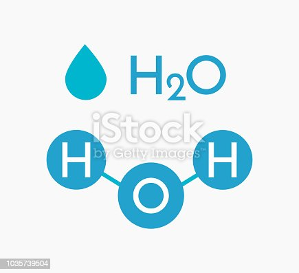 Water molecule H2O compound. Vector illustration