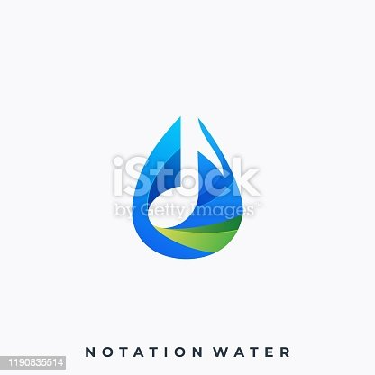 istock Water Music Illustration Vector Template 1190835514