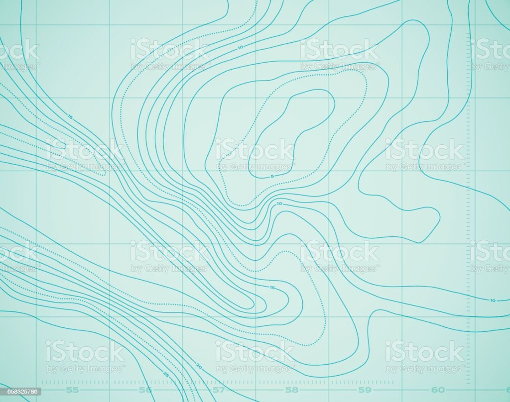Water Ocean Topography Abstract Sea Background. Ocean Water Topographic Background isolines. Abstract stock vector