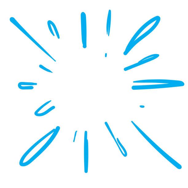 wasser oder feuer platzen doodle illustration vektor - designelement stock-grafiken, -clipart, -cartoons und -symbole