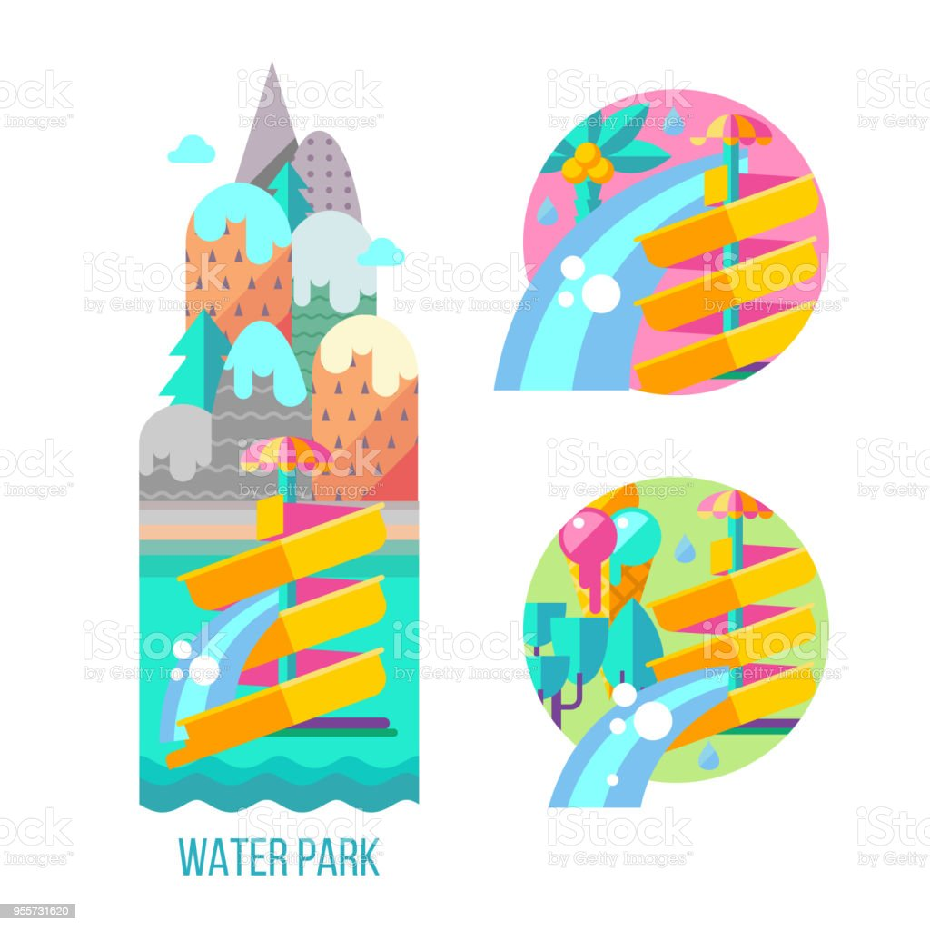 water park hello summer vector clipart stock vector art more rh istockphoto com water park clipart free water park clipart images