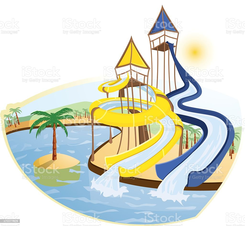 royalty free water slide clip art vector images illustrations rh istockphoto com water park clip art