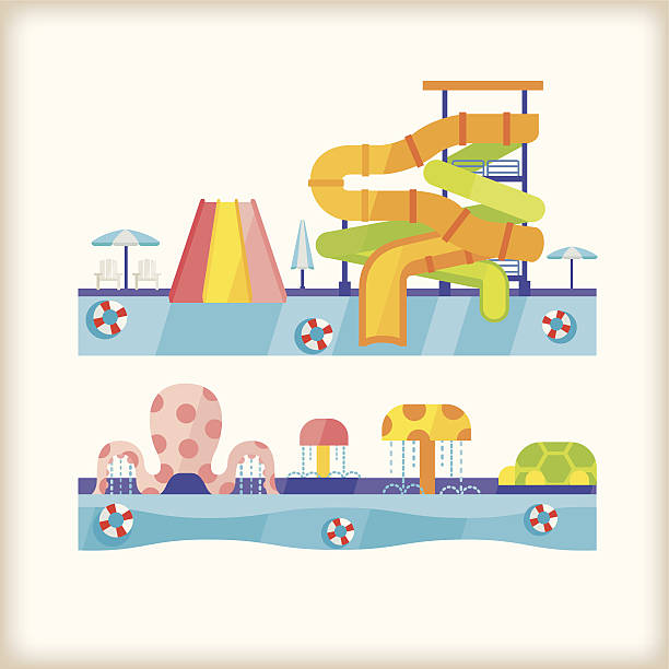 Inflatable Slide Clip Art: Royalty Free Water Slide Clip Art, Vector Images