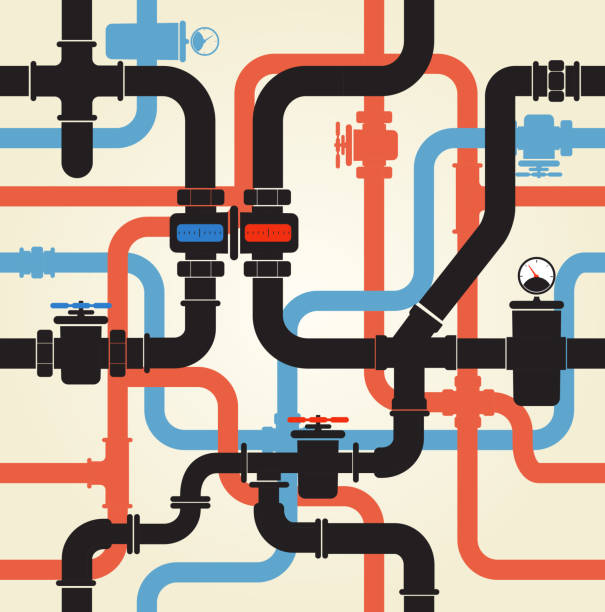 wody pipeline - tap water stock illustrations