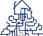 Water pipes and house