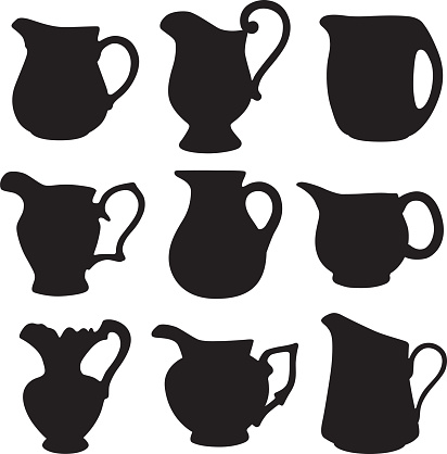 Water Pitcher Silhouettes