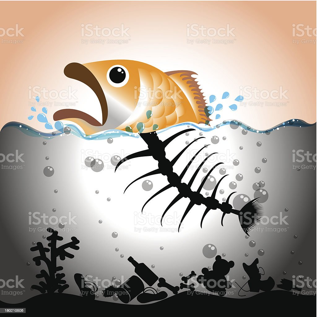 Water Pollution Concept vector art illustration