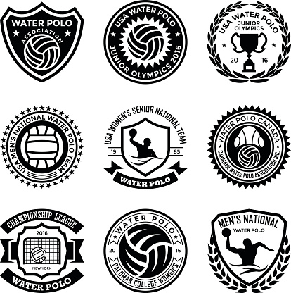 Water Polo Badges