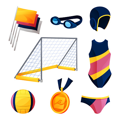 Water polo equipment or swim game accessories set