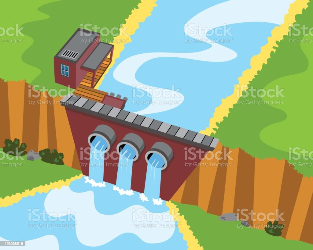 Water Power royalty-free stock vector art
