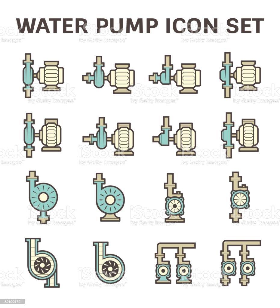 water pump icon vector art illustration