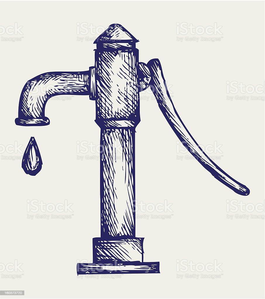 Water pump royalty-free stock vector art