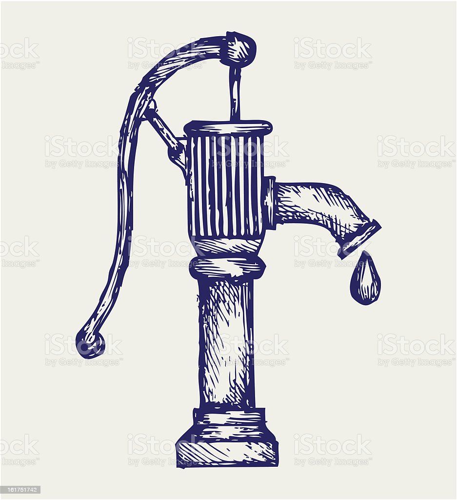 Water pump royalty-free stock vector art