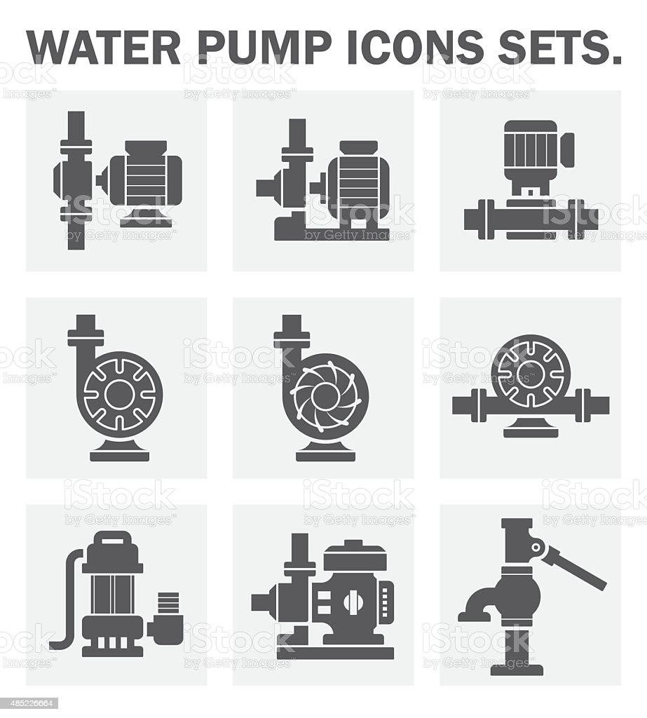 Water pump vector art illustration