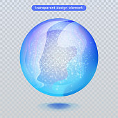 Water rain drop isolated on transparent background. Vector clear dew, water bubble or glass surface ball for your design. Vector ilustration. Eps10