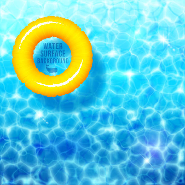 Water ripple background, with rubber ring on water surface eps 10 Water ripple background, with rubber ring on water surface eps 10 tube stock illustrations