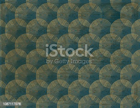 Vector of Water Ripple Line Pattern Background. EPS Ai 10 file format.