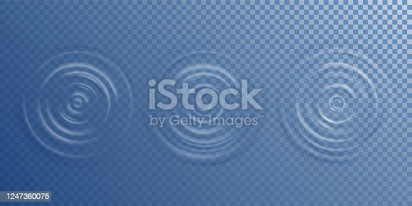istock Water ripple top view 1247360075
