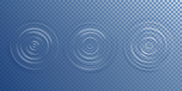 Water ripple top view