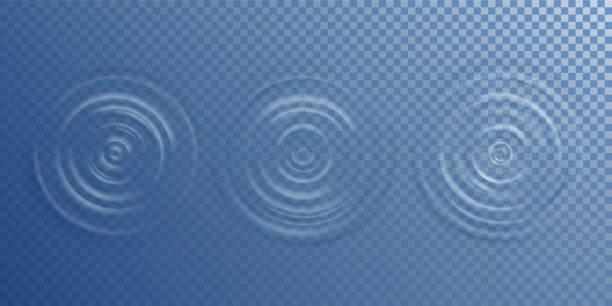 widok z góry tętnienia wody - fala woda stock illustrations