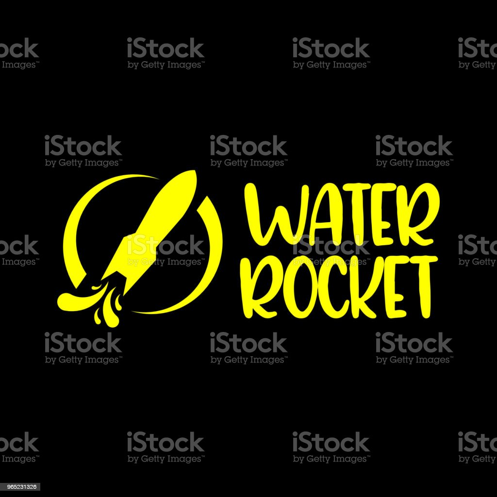Water Rocket Vector Template Design royalty-free water rocket vector template design stock vector art & more images of archival